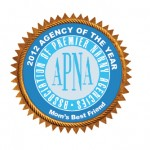 National Nanny Agency of the Year Logo - Mom's Best Friend